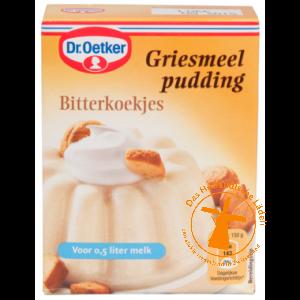 Dr Oetker Griesmeelpudding Bitterkoekjes