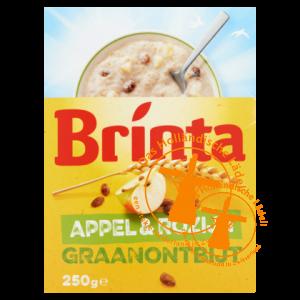 brinta fruitfit graanontbijt appel rozijn