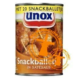 Unox Snackballetjes in satésaus