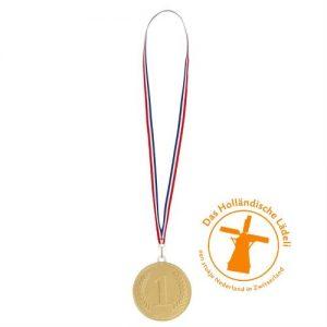 chocolade medaille met lint vierkant